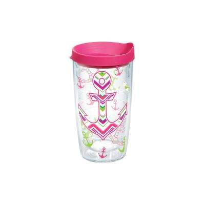 Anchors Away 16 oz. Double Walled Insulated Tumbler with Travel Lid