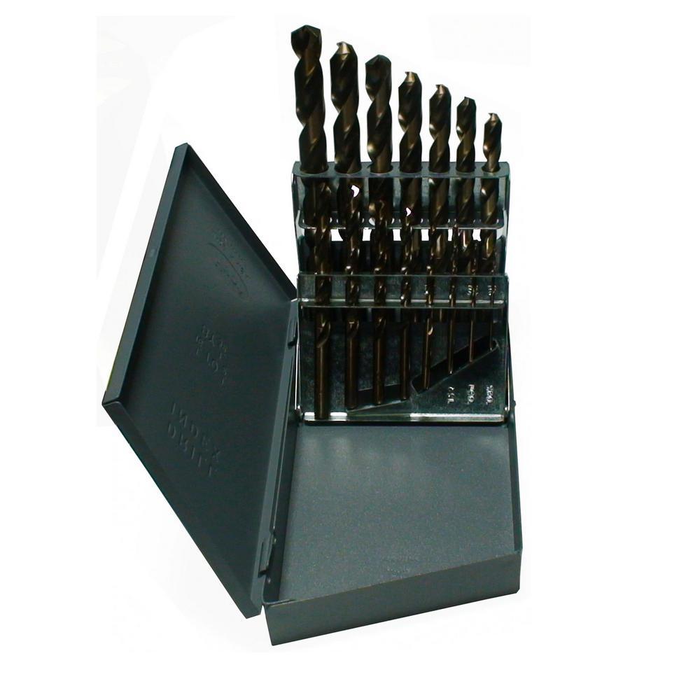 m42 Cobalt Jobber Drill Bit Set (15-Pieces)