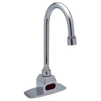 AquaSense Gooseneck Deck-Mount Touchless Bathroom Faucet with 1.5 GPM Aerator in Chrome