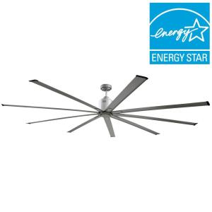 Big Air 72 inch Indoor Metallic Nickel Industrial Ceiling Fan with Remote Control by Big Air