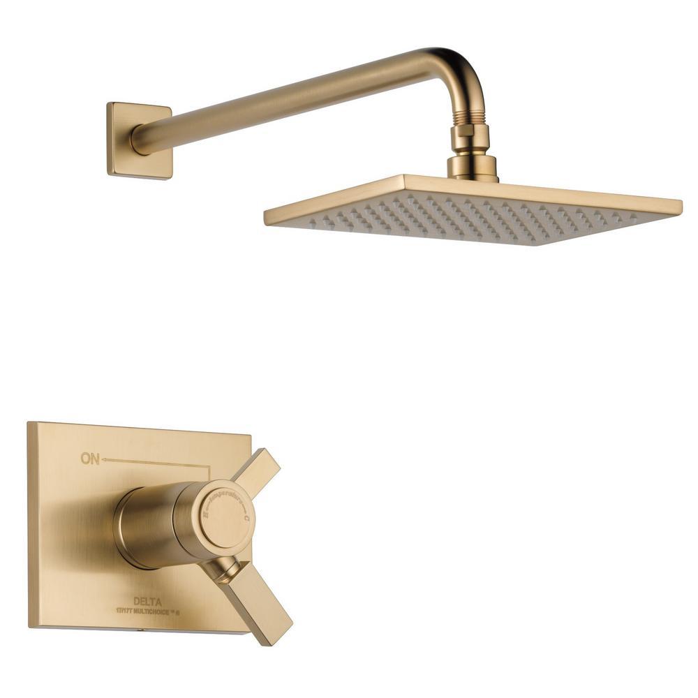 Vero TempAssure 17T 1-Handle Shower Faucet Trim Kit in Champagne Bronze (Valve Not Included)