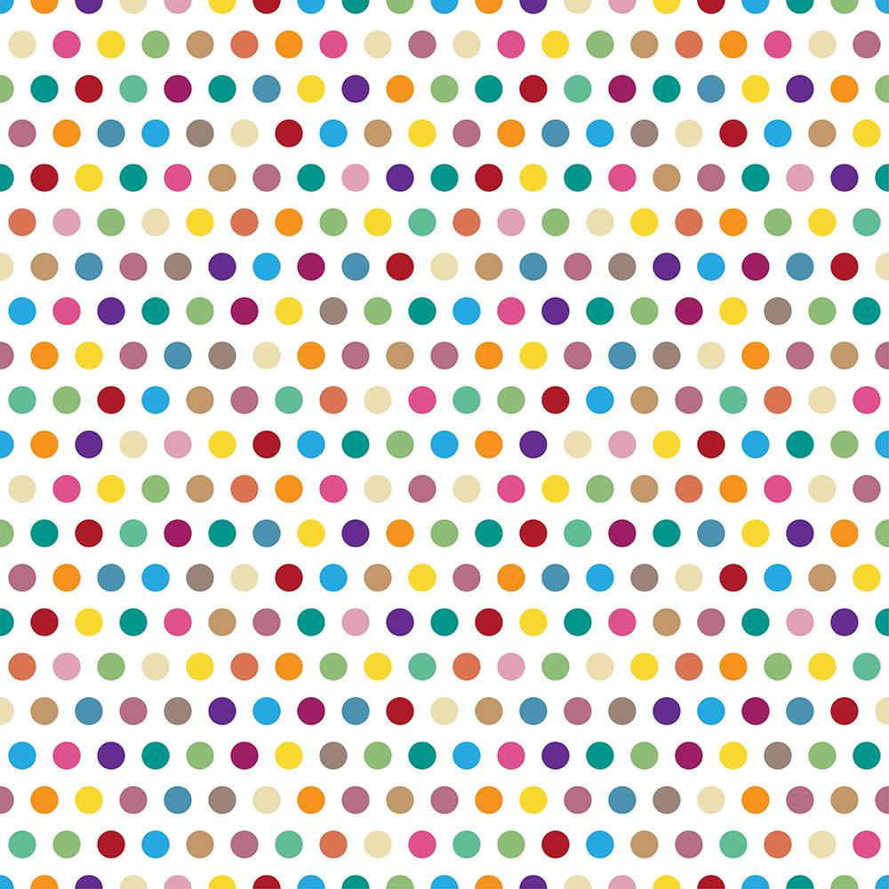 18.2 in. x 36.4 in. Colorful Pois Peel and Stick Foam