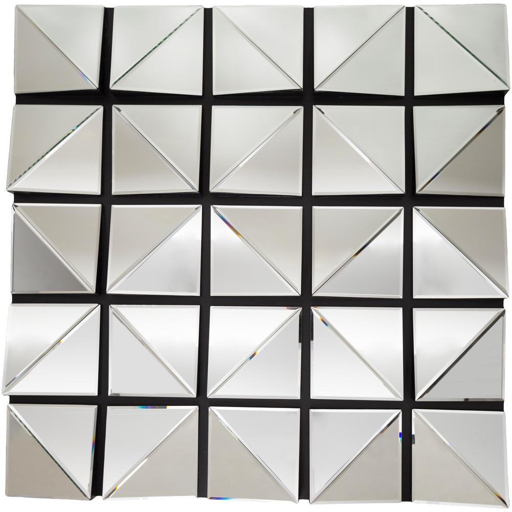 Clarice 39.4 in. x 39.4 in. Modern Framed Mirror