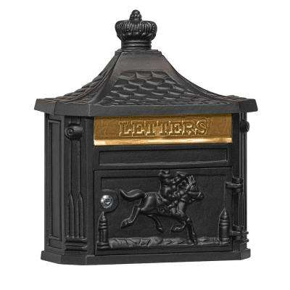 4400 Series Black Victorian Mailbox