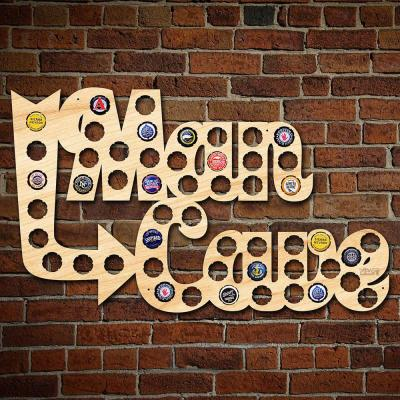 """24 in. x 15 in. Large """"Man Cave"""" Beer Cap Map"""