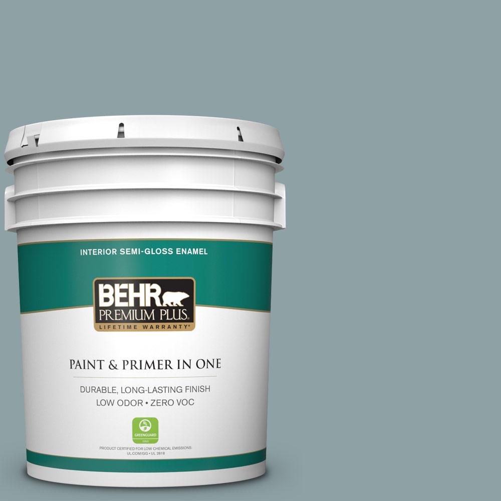 5-gal. #N440-4 October Sky Semi-Gloss Enamel Interior Paint