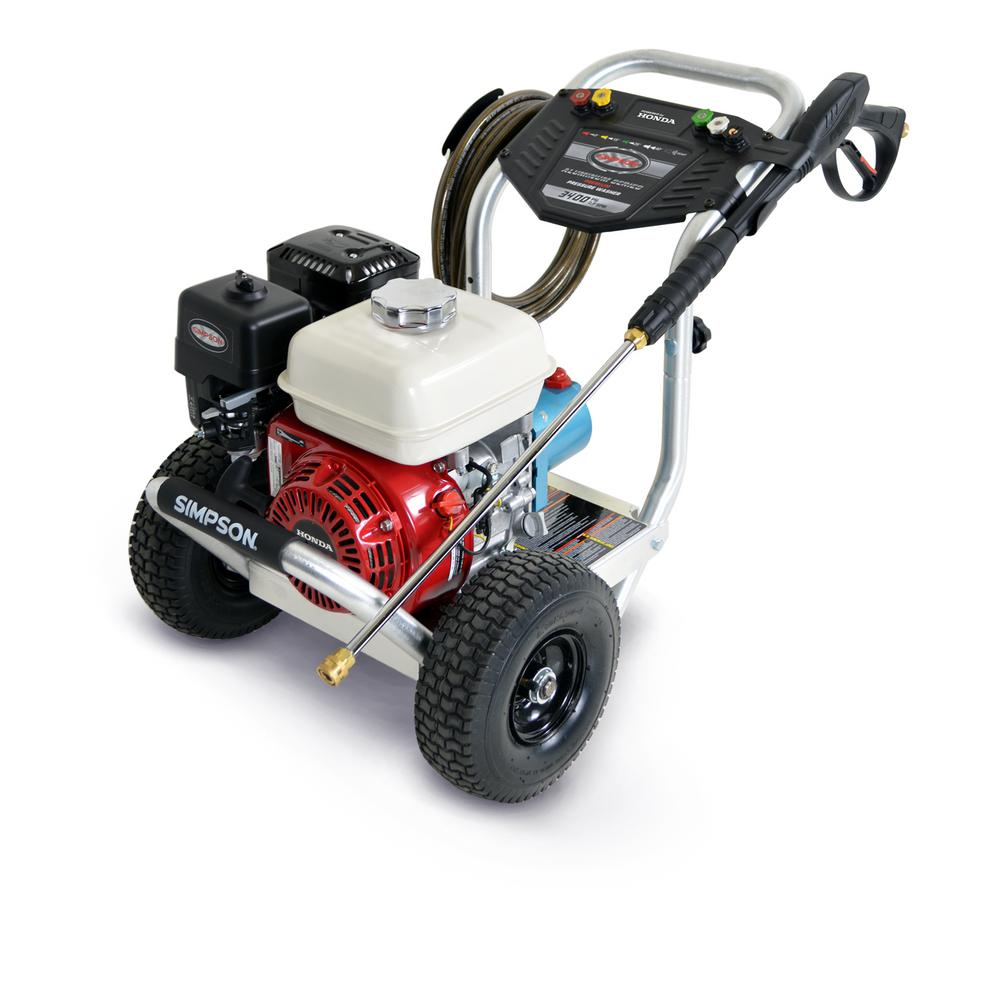 simpson 3400 psi at 2 5 gpm gas pressure washer powered by. Black Bedroom Furniture Sets. Home Design Ideas