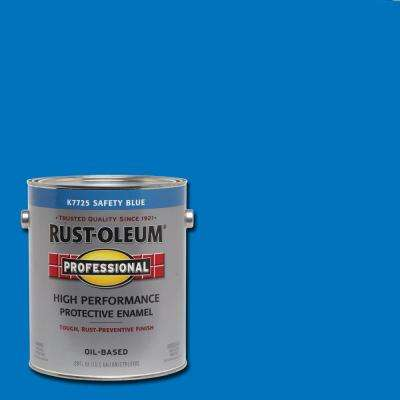 1 gal. High Performance Protective Enamel Gloss Safety Blue Oil-Based Interior/Exterior Paint (2-Pack)