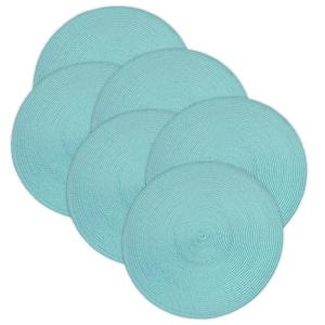 Design Imports Aqua Round Woven Placemat (Set of 6) by Design Imports