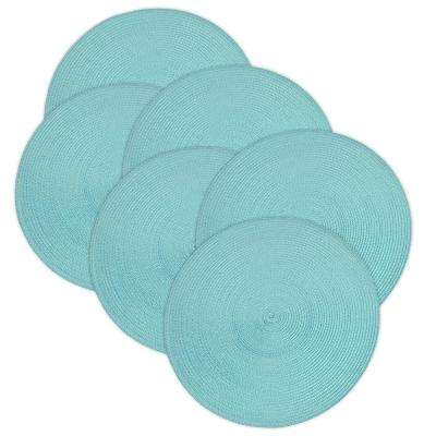 Aqua Round Woven Placemat (Set of 6)