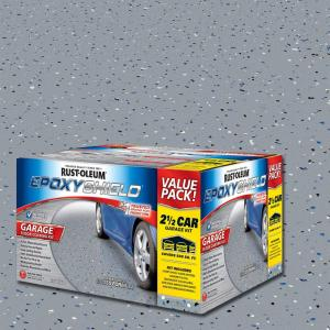 Gray 2 Part High Gloss Epoxy Garage Floor Coating Kit