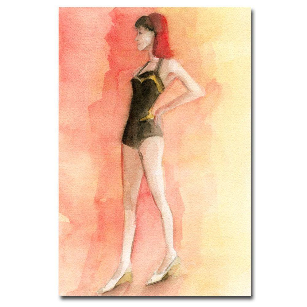 Trademark Fine Art 30 in. x 47 in. Vintage Brown Bathing Suit III Canvas Art-DISCONTINUED