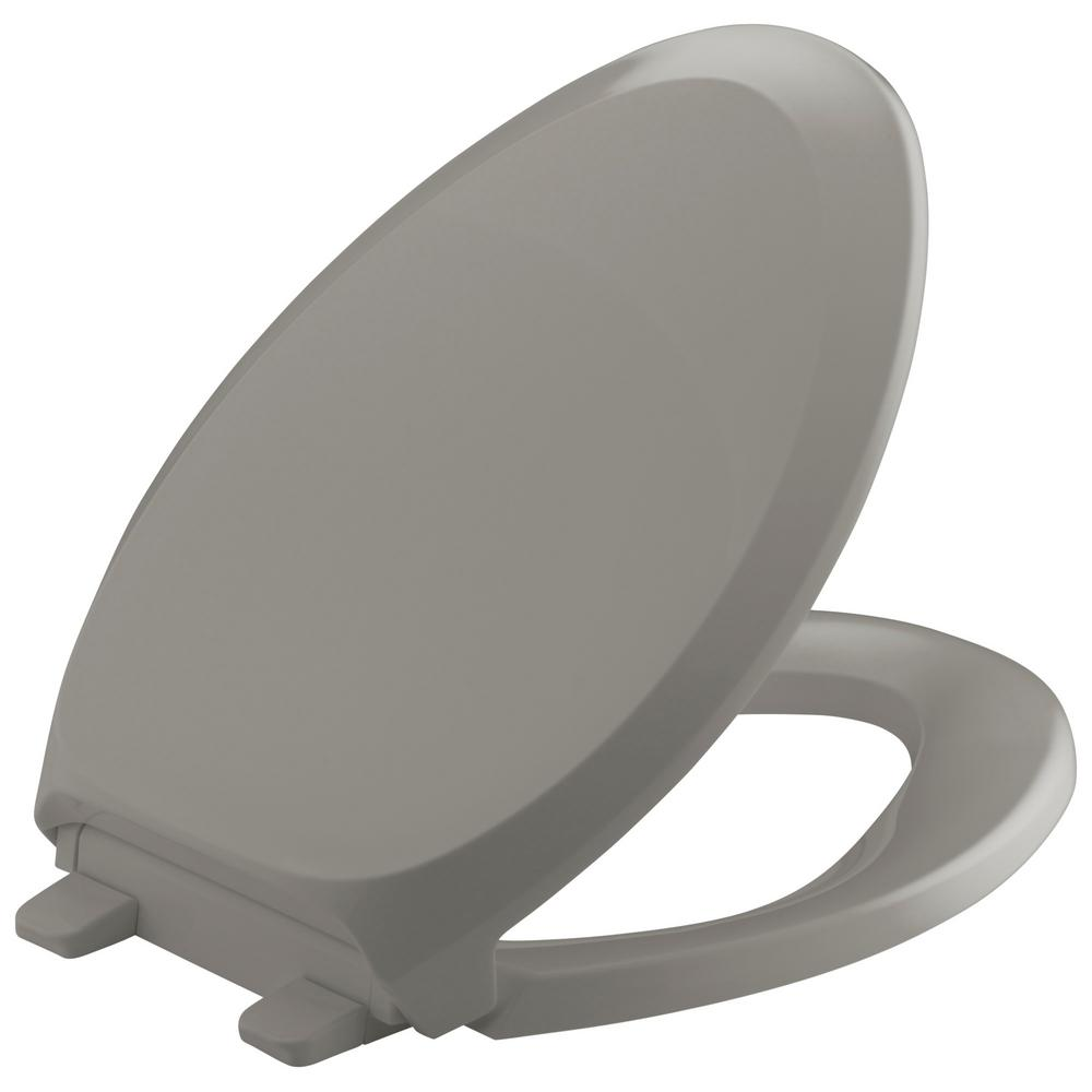 kohler griptight french curve q3 elongated toilet seat in cashmere