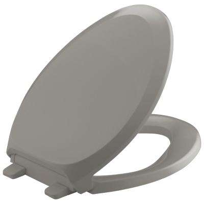 Grip-Tight French Curve Q3 Stndard Closed Elongated front Toilet Seat in Cashmere