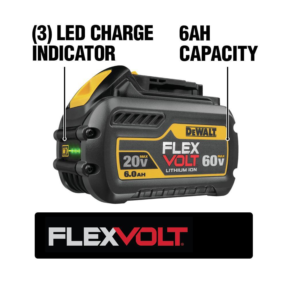 FLEXVOLT 20-Volt/60-Volt MAX Lithium-Ion 6.0Ah Battery Pack with Charger
