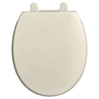 Transitional Slow-Close EverClean Round Closed Front Toilet Seat in Linen