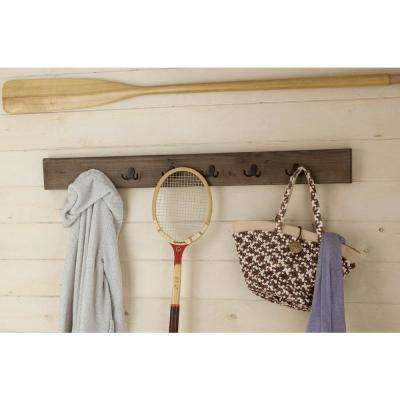 Pomona Rustic Natural Wall Mounted Coat Rack
