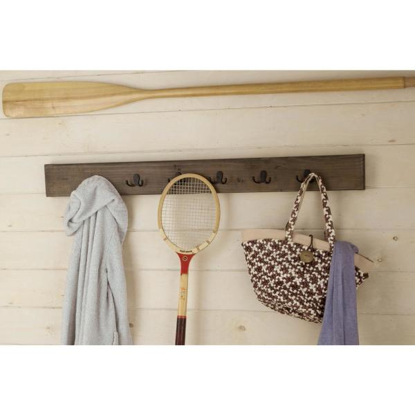 Alaterre Furniture Pomona Rustic Natural Wall Mounted Coat Rack AMBA2920
