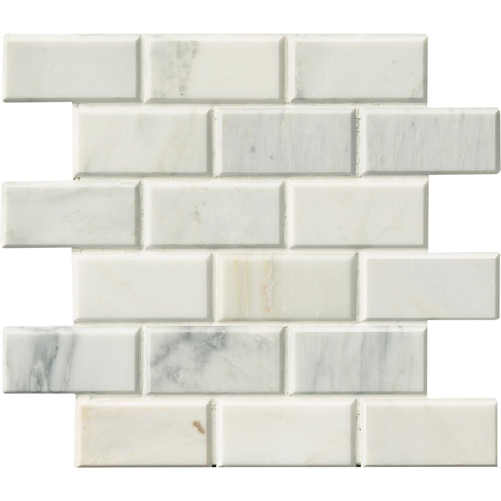 Arabescato Carrara 12 in. x 12 in. x 20 mm Honed