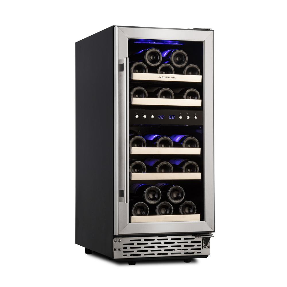 Phiestina 15 in. Built-In or Free-Standing 29 Bottle Wine Cooler Refrigerator