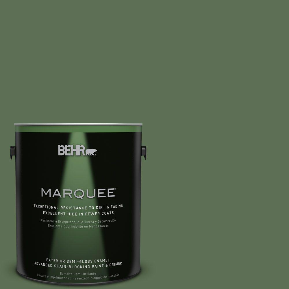 BEHR MARQUEE 1-gal. #QE-39 Willow Leaf Semi-Gloss Enamel Exterior Paint