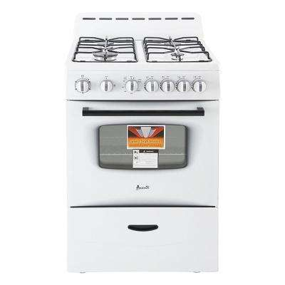 24 in. 2.6 cu. ft. Gas Range in White
