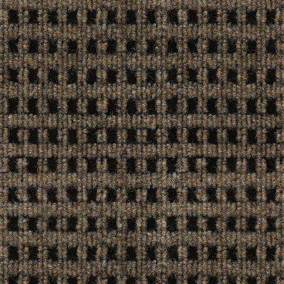 First Impressions Tattersall Chestnut with Black Texture 24 in. x 24 in. Carpet Tile (15 Tiles/Case)