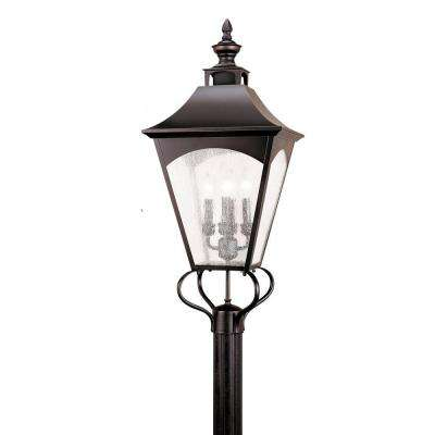 Homestead 4-Light Oil Rubbed Bronze Outdoor Post Top