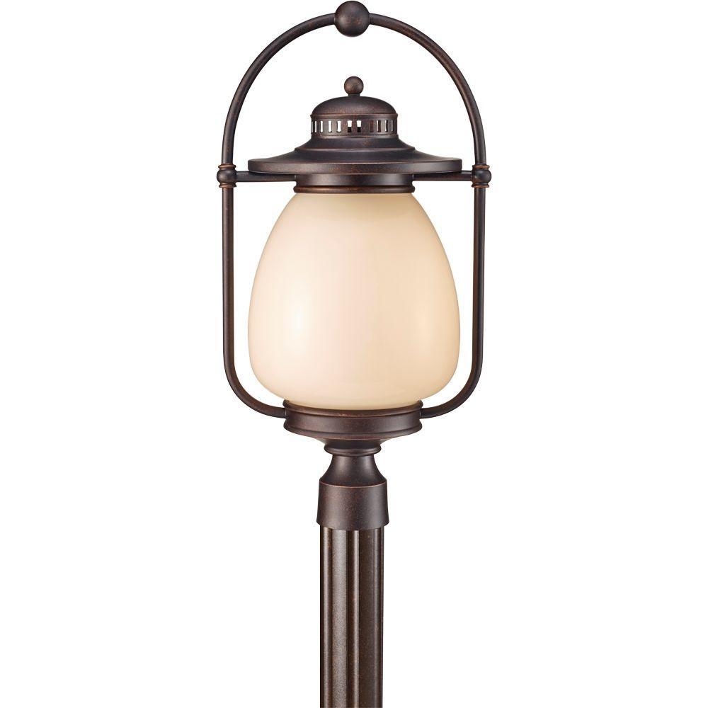 Mc Coy 1-Light Grecian Bronze Outdoor Post Light