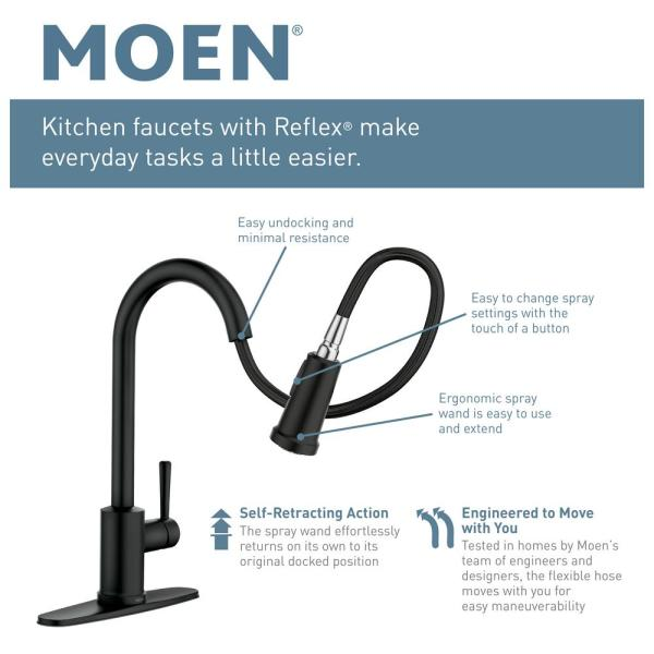 Moen Indi Single Handle Pull Down Sprayer Kitchen Faucet With Reflex And Power Clean In Spot Resist Stainless 87090msrs The Home Depot