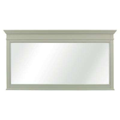 Braylee 60 in. W x 32 in. H Single Framed Wall Mirror in Sage Green
