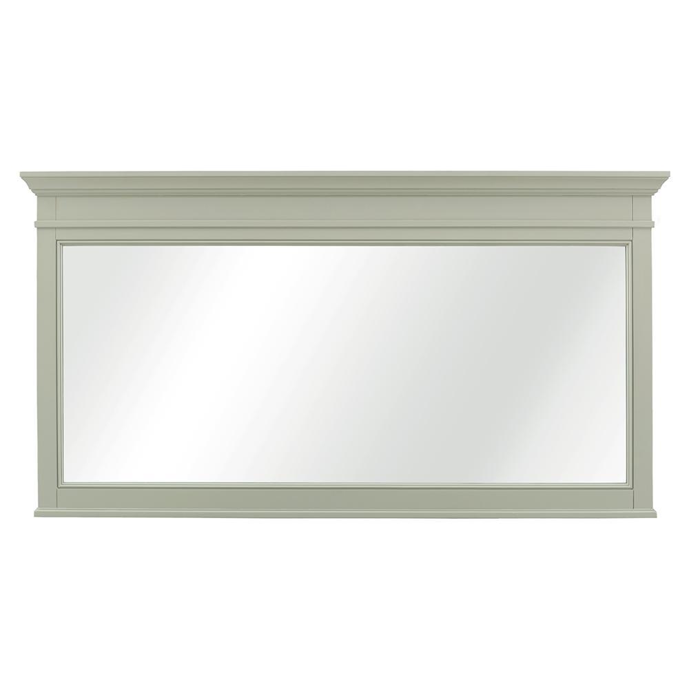 Braylee 60 in. W x 32 in. H Single Framed Wall Mirror in Sage Green