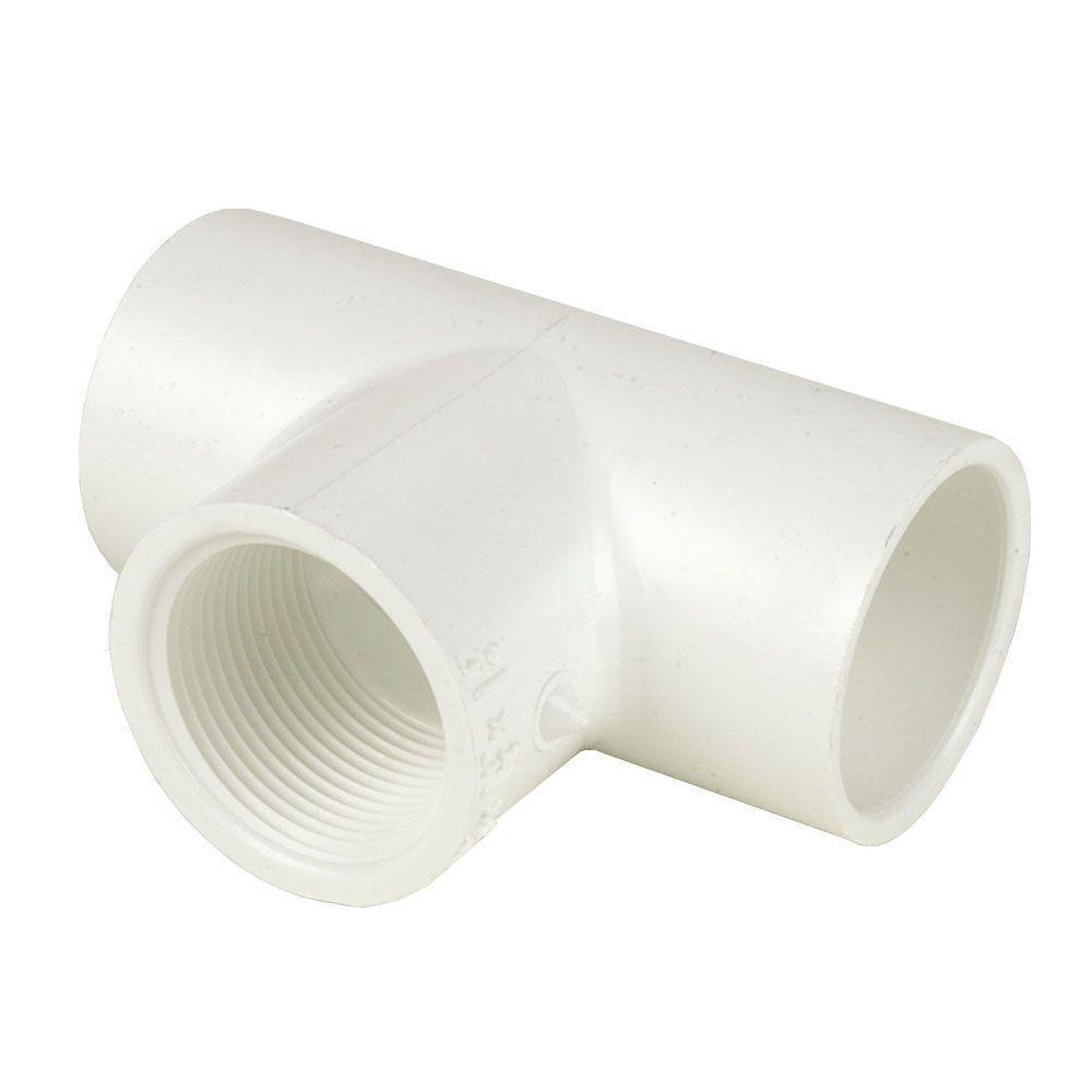 DURA 5 in. x 5 in. x 4 in. Schedule 40 PVC Reducing Tee SxSxFPT