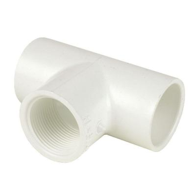 6 in. x 6 in. x 4 in. Schedule 40 PVC S x S x FPT Reducing Tee