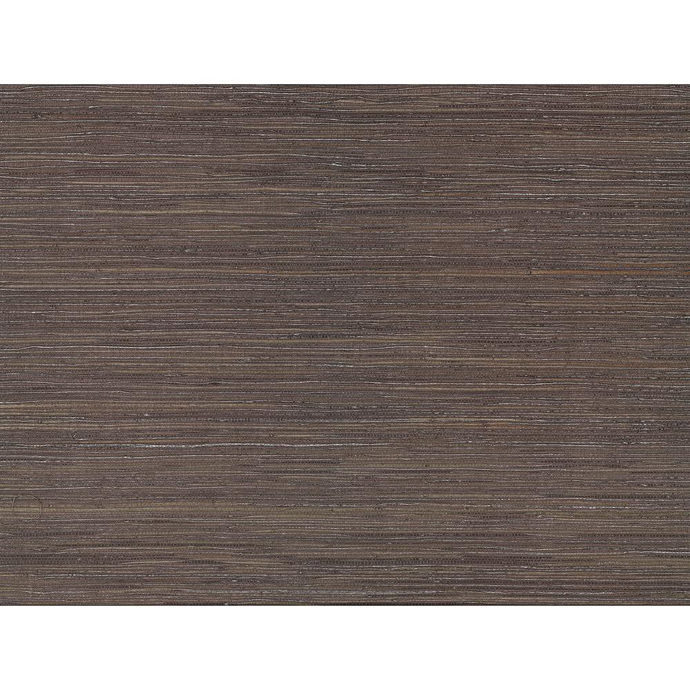 72 sq. ft. Shandong Chocolate Ramie Grass Cloth Wallpaper