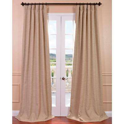 Semi-Opaque Ginger Tan Bellino Blackout Curtain - 50 in. W x 96 in. L (Panel)