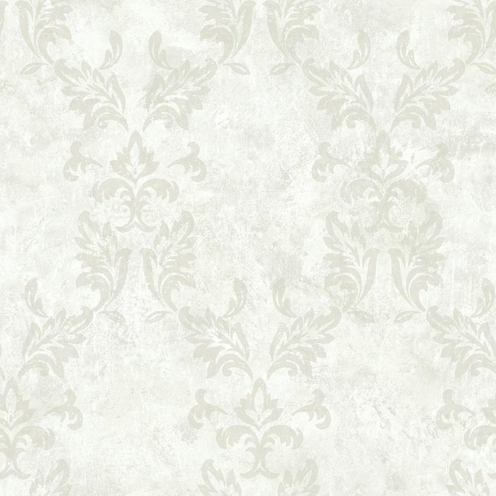 Brewster Bentley Cream Damask Wallpaper