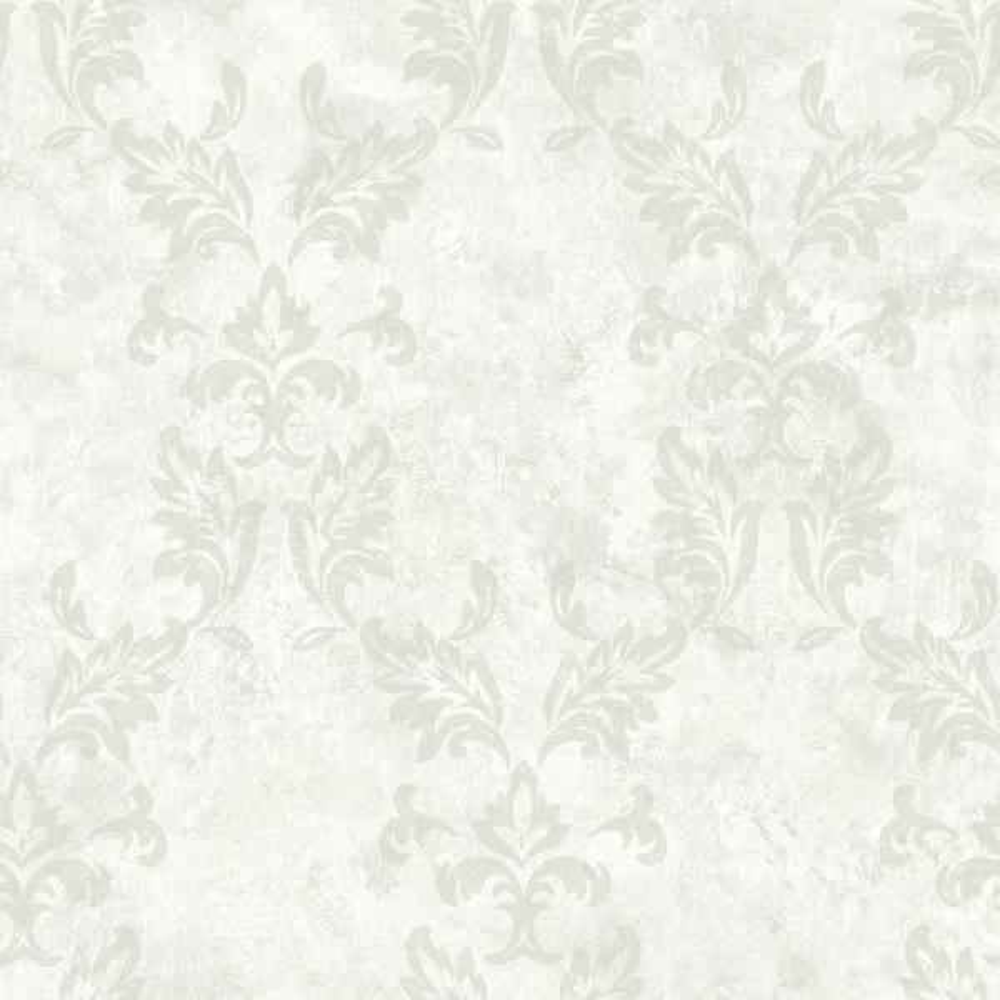 Brewster Bentley Cream Damask Wallpaper