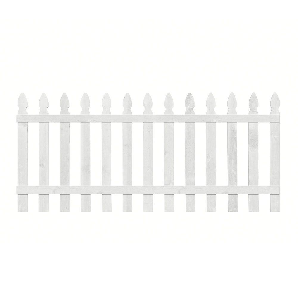 3.5 ft. H x 8 ft. W Primed Gothic Fence Panel