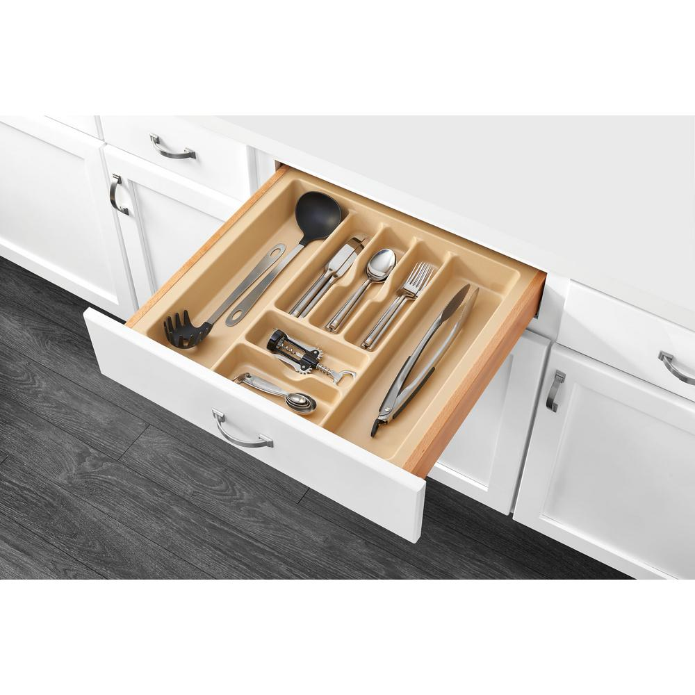 Extra Large Almond Cutlery Tray Drawer Home Kitchen