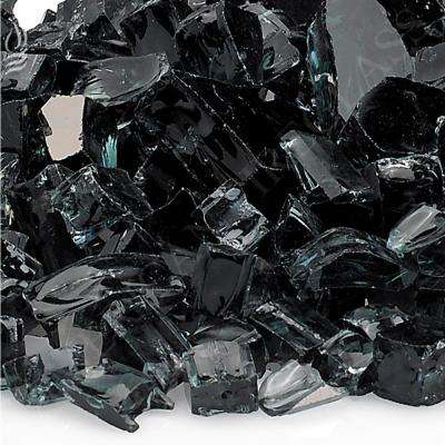 1/2 in. Black Reflective Fire Glass 10 lbs. Bag