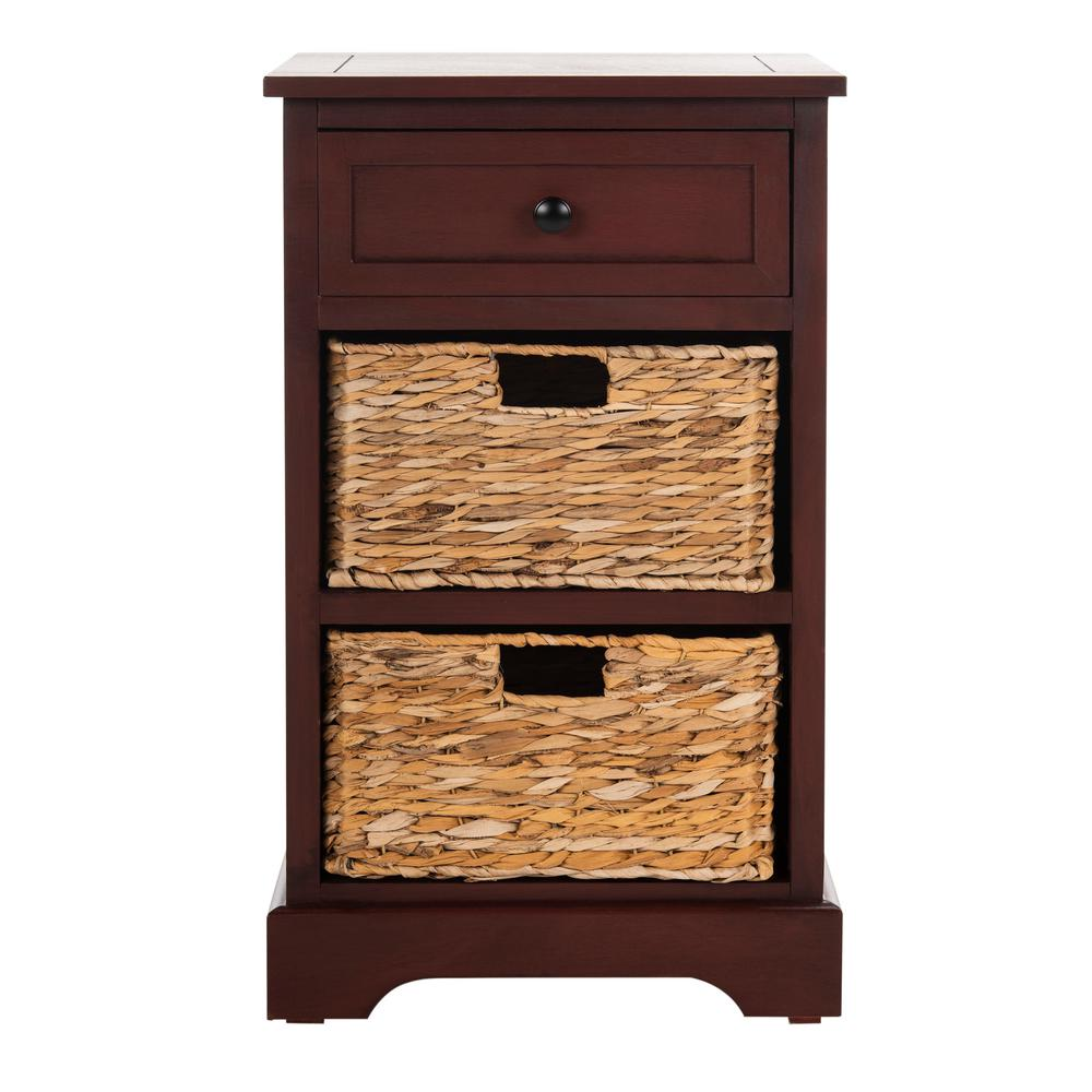 Carrie Red Storage End Table