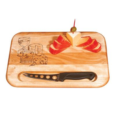 12 in. Branded Cheese Board With Knife
