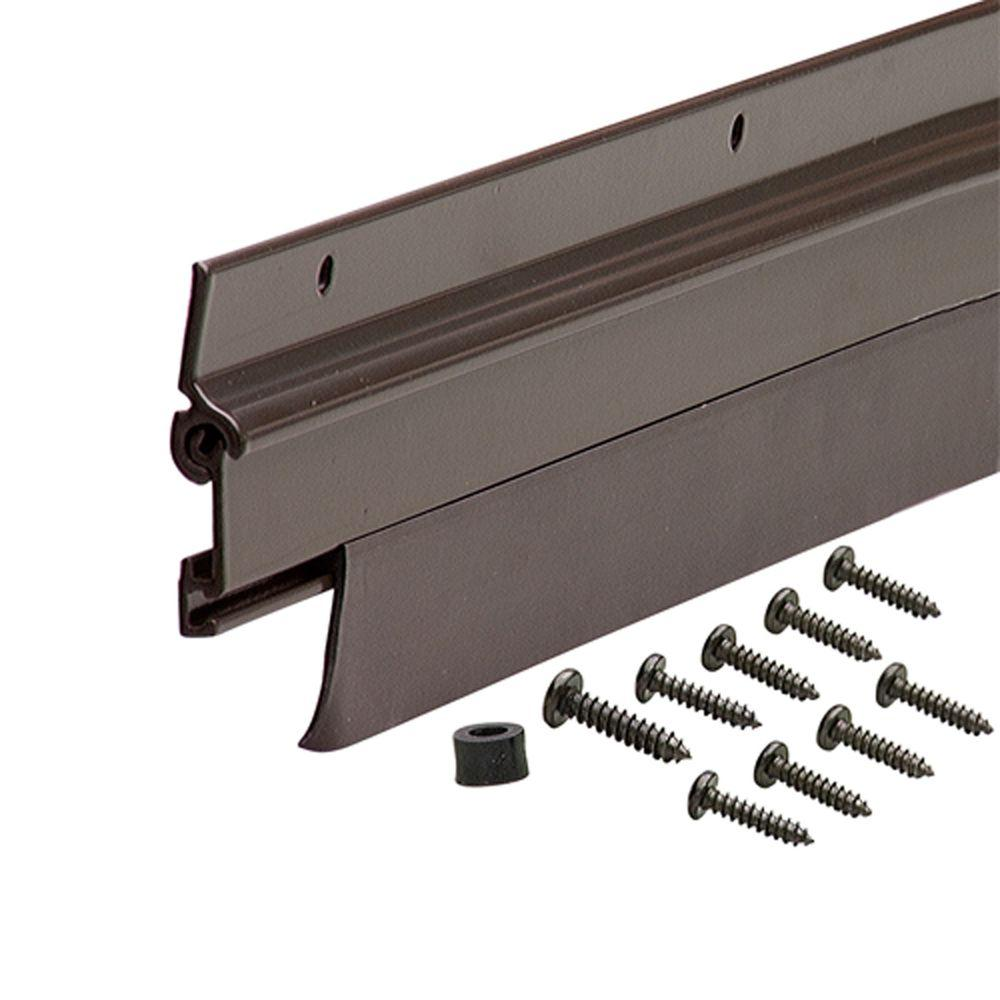 Flex-O-Matic 36 in. Bronze Weatherstrip Door Sweep