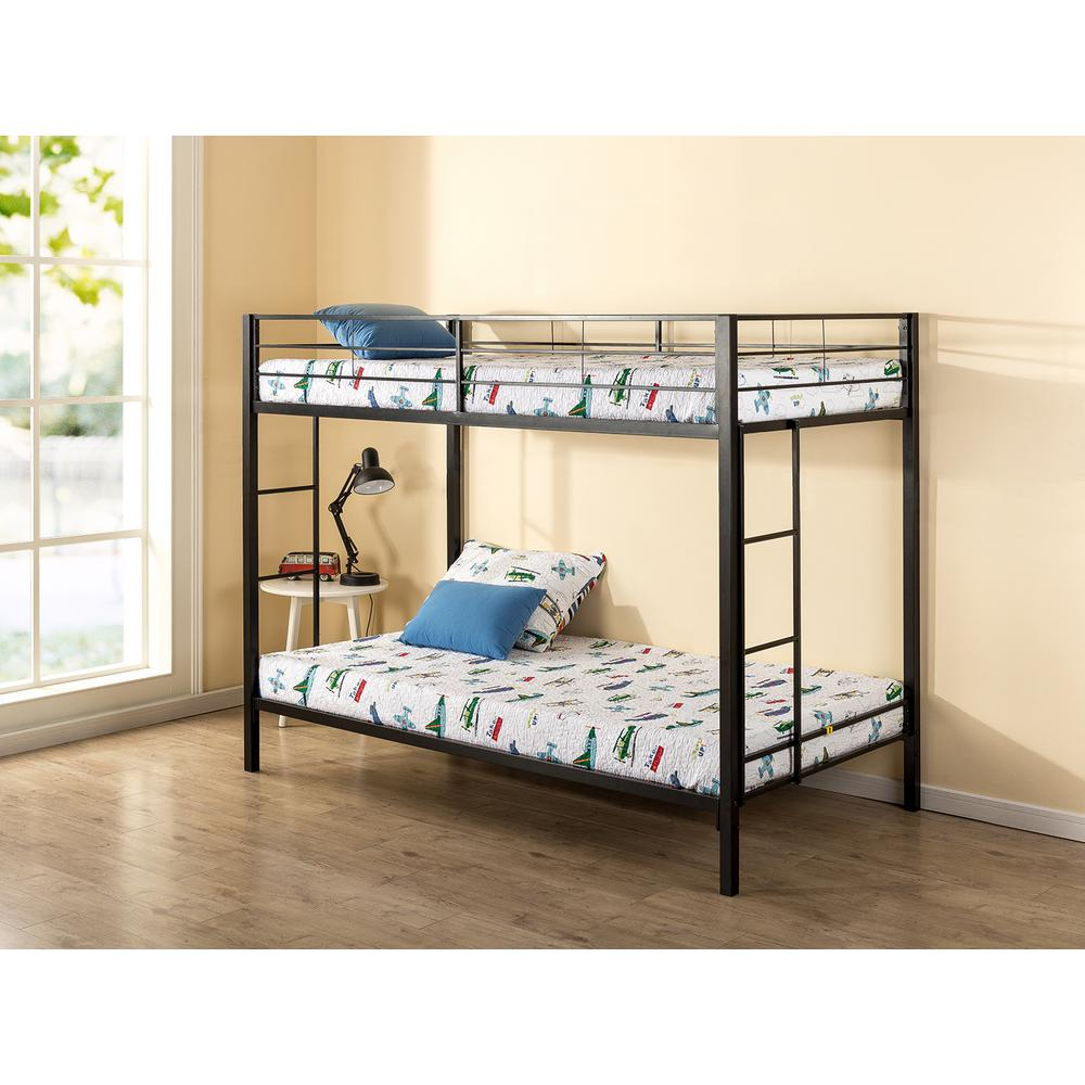 Zinus Quick Lock Twin over Twin Metal Bunk Bed. Zinus Quick Lock Twin over Twin Metal Bunk Bed HD QLBB   The Home