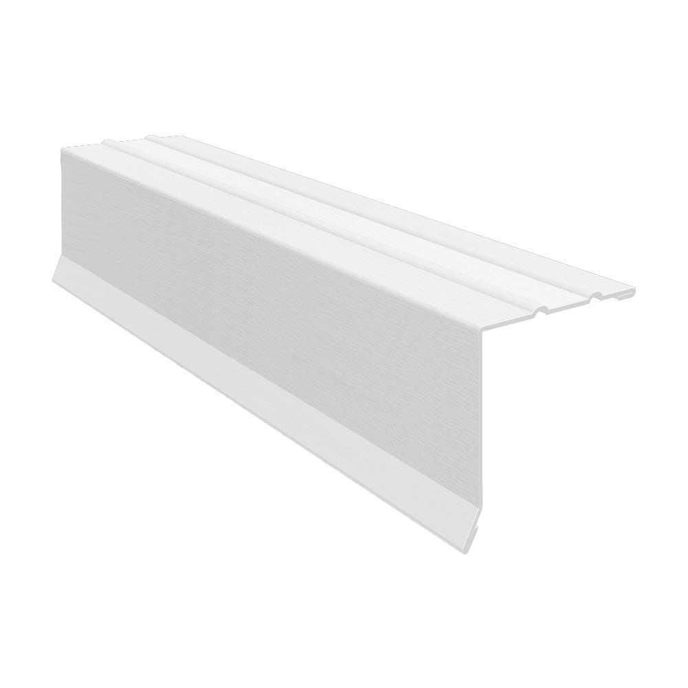 1-3/8 in. x 1-3/8 in. x 10 ft. Galvanized Steel Embossed Drip Edge Flashing in White