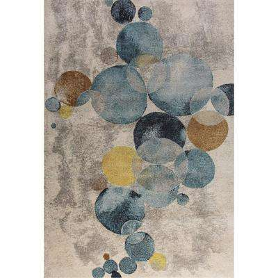 Fusion Circles Multi 2 ft. x 4 ft. Indoor Area Rug
