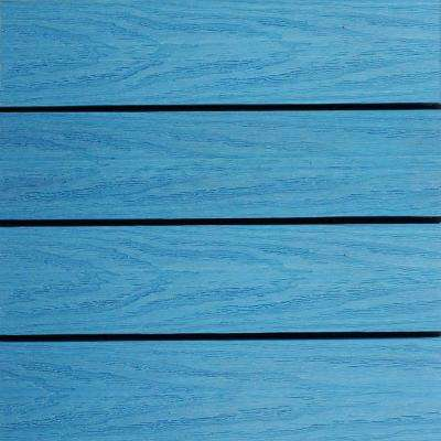 UltraShield Naturale 1 ft. x 1 ft. Quick Deck Outdoor Composite Deck Tile Sample in Caribbean Blue
