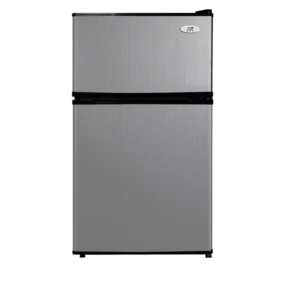 Spt 3 1 Cu Ft Double Door Mini Refrigerator In Stainless Steel Energy Star
