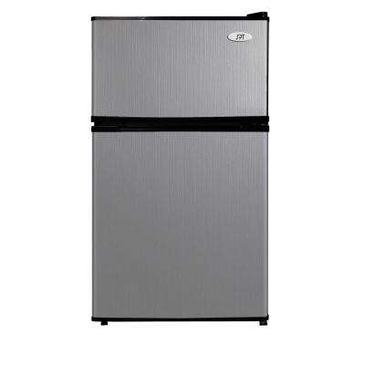 3.1 cu. ft. Double Door Mini Refrigerator in Stainless Steel, ENERGY STAR